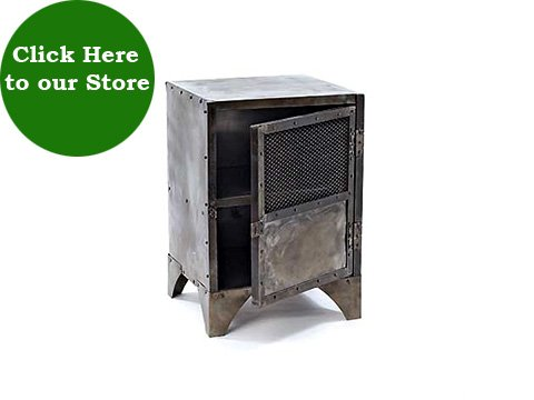 Click HERE To View Industrial Metal Locker End Tables At HudsonGoods.com.