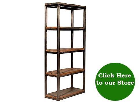 Click HERE to view Industrial Salvaged Wood and Metal Bookcase ... - Industrial Reclaimed Wood And Metal Bookcase - Hudson Goods Blog
