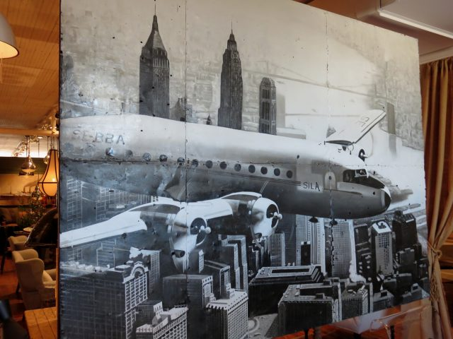 Plane over New York Oil Painting