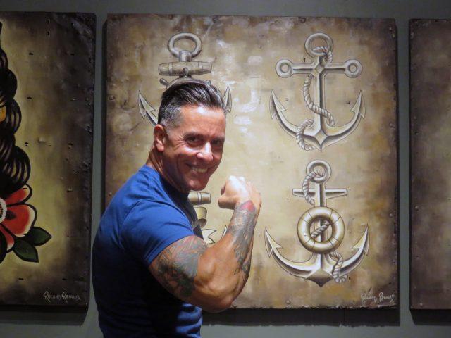 Four Anchors Tattoo Artwork