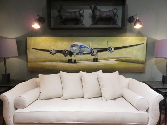 Vintage Airplane Wall Painting
