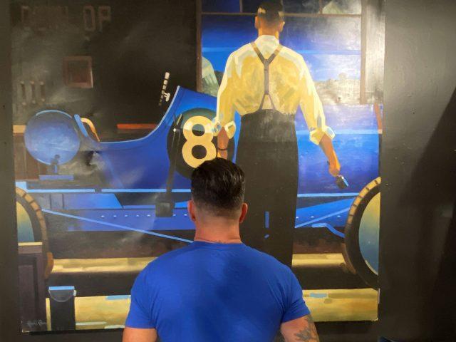 Vintage Race Car Painting