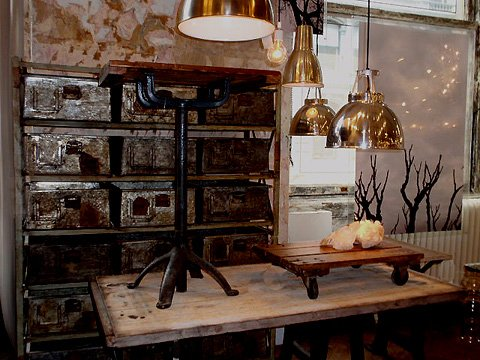 Vintage Industrial Furniture, Home Decorating Ideas - Vintage Industrial Furniture, Home Decorating Ideas Small Kitchen