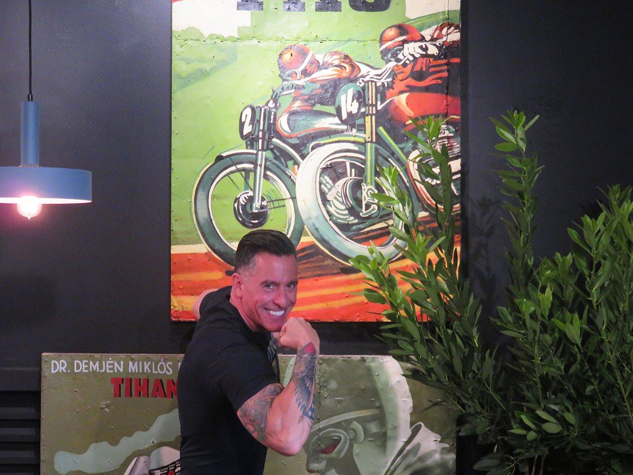 vintage motorcycle wall paintings