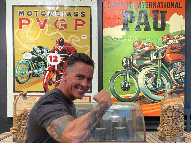 Large Vintage Motorcycle Paintings