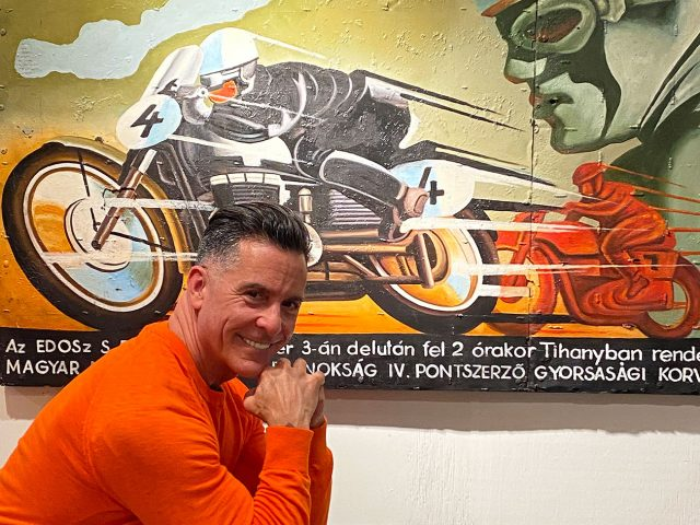 Tihany Motorbike Wall Painting