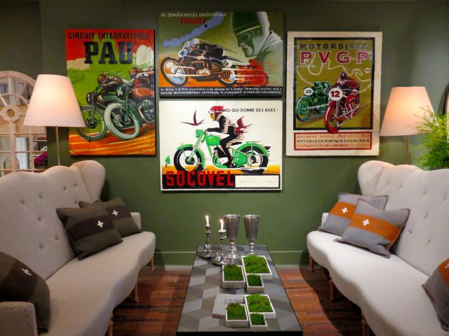 Vintage Motorcycle Wall Art