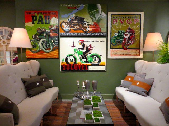 Vintage Motorcycle Oil Paintings