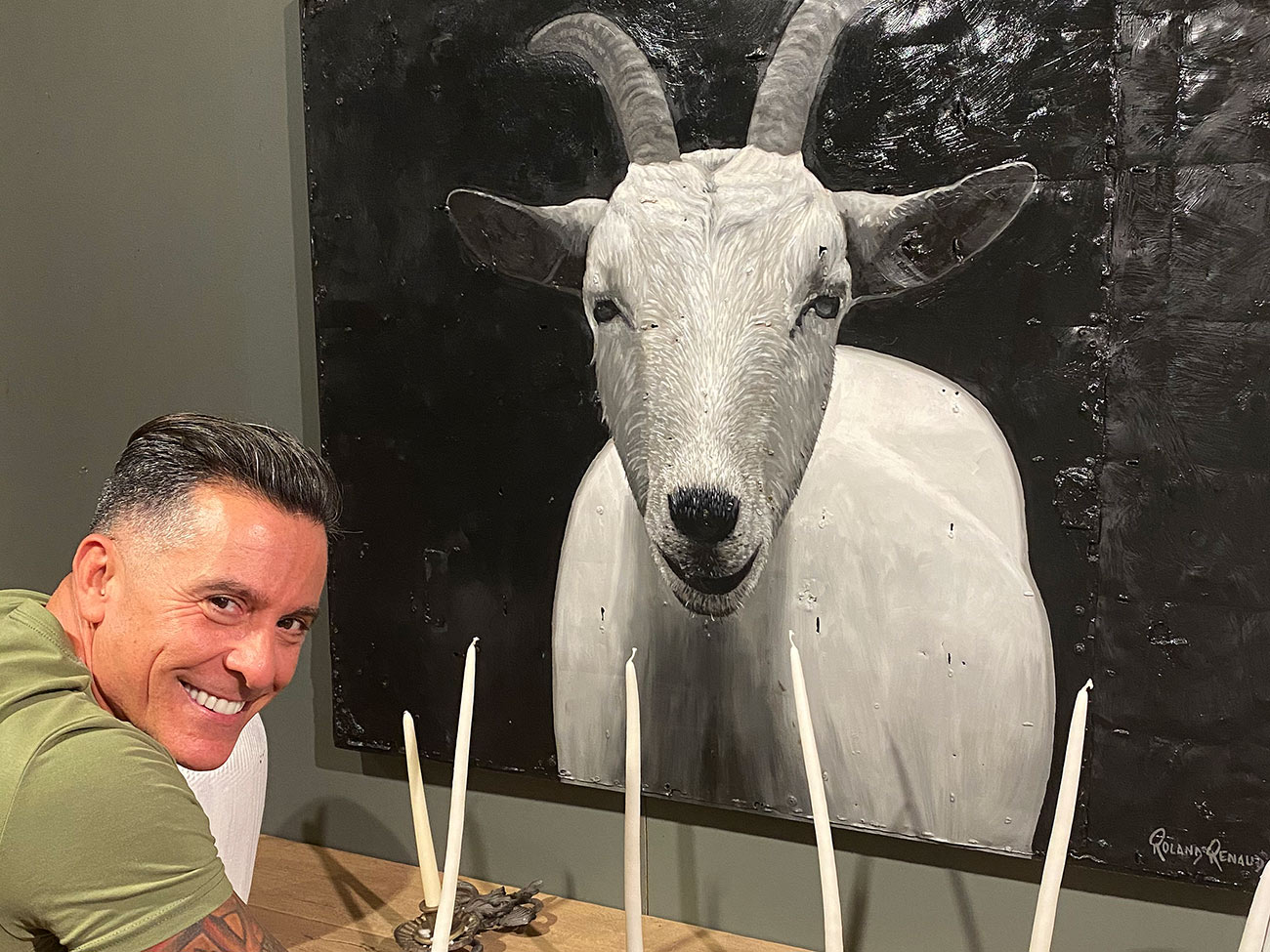 Billie goat wall painting