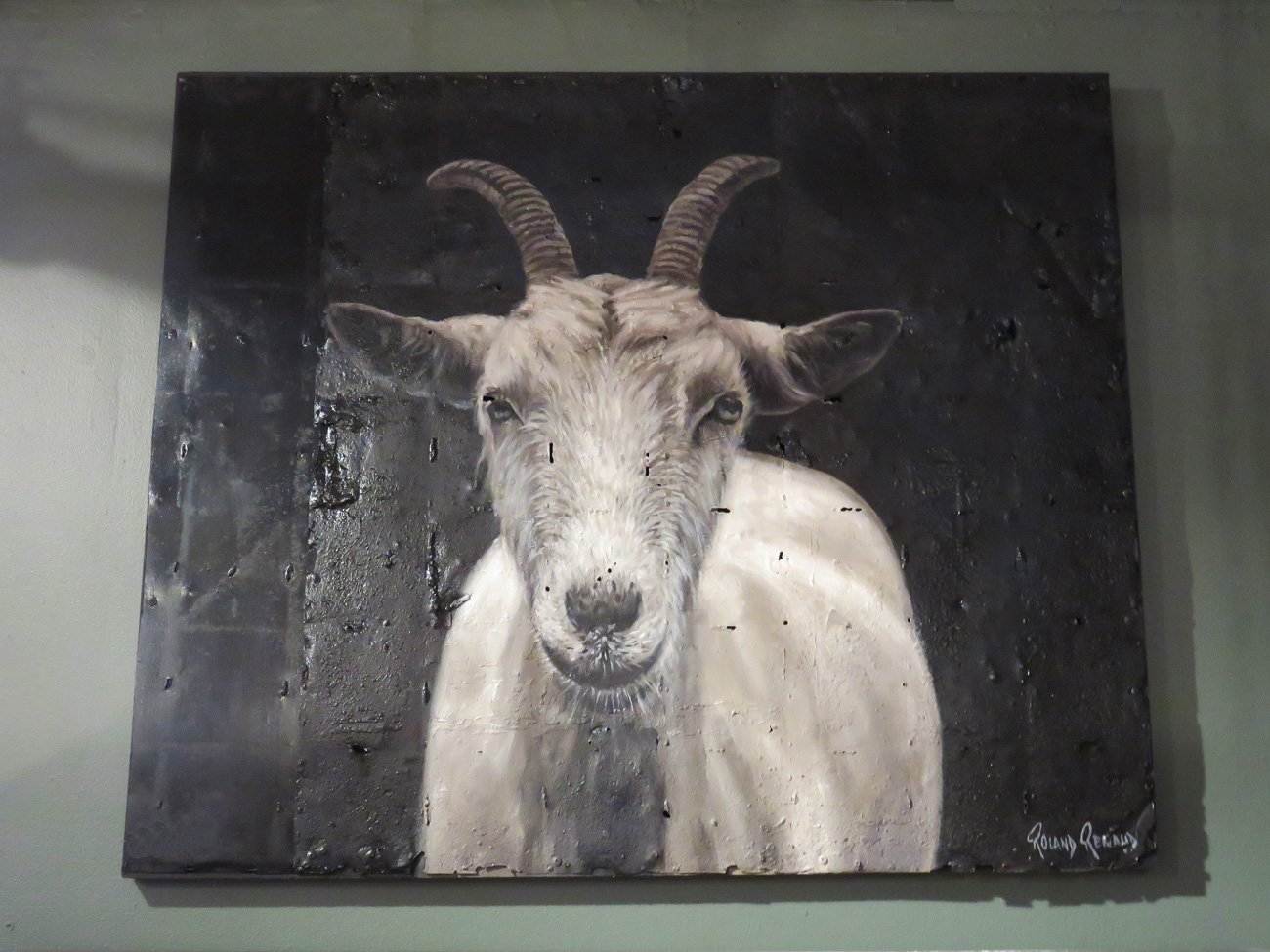 billy goat wall painting