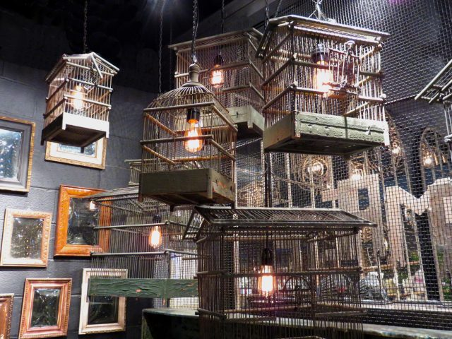 Vintage Wood Bird Cages