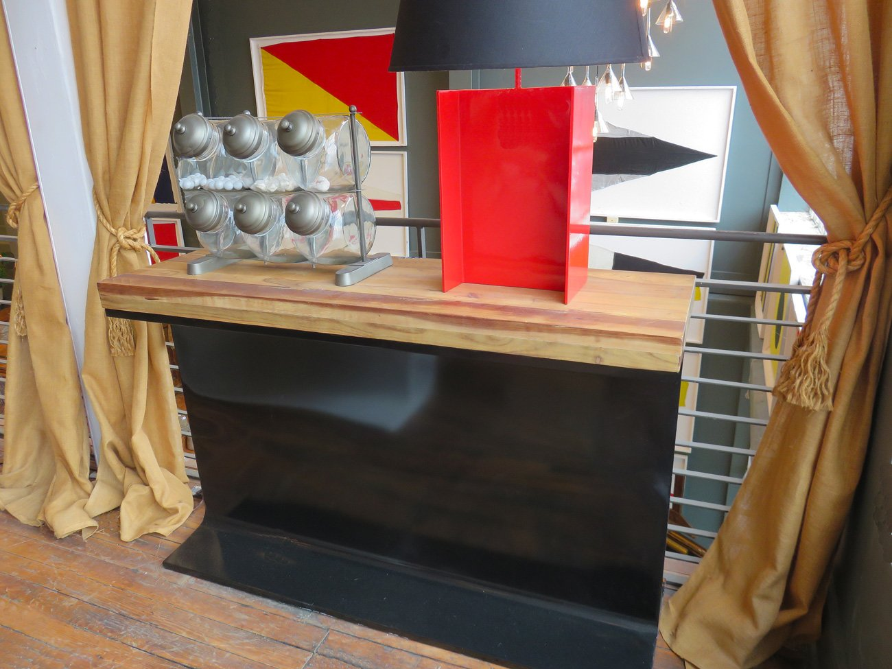 industrial metal beam console
