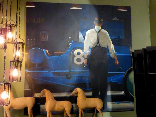 Vintage Racing Car Painting
