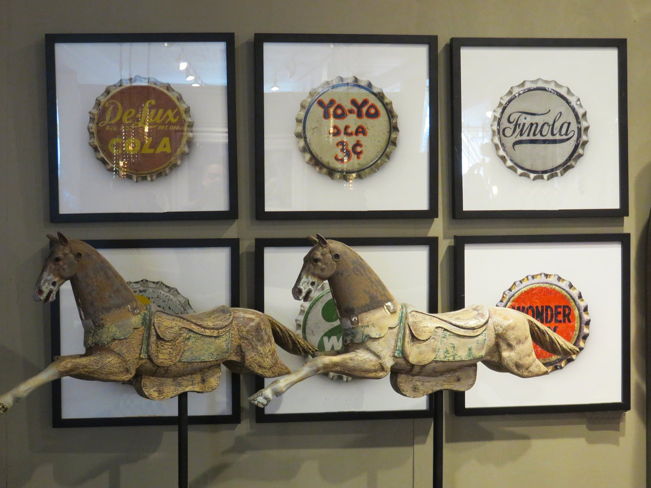 vintage bottle cap wall prints