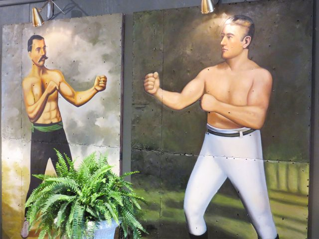 Vintage Boxing Wall Paintings