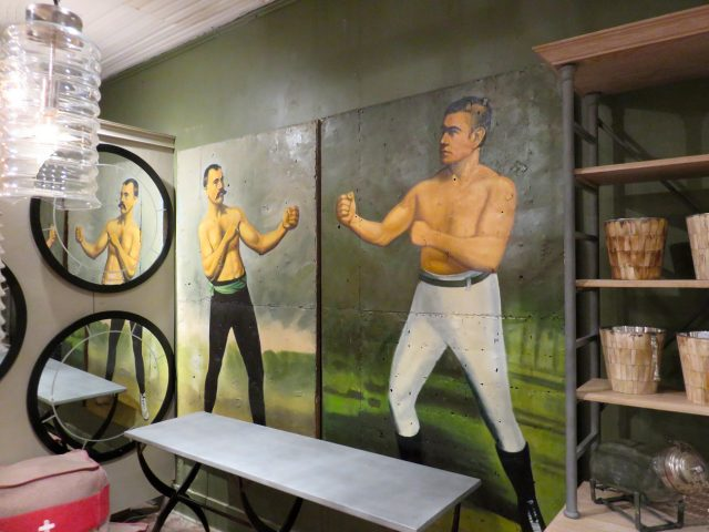 Vintage Boxer Oil Paintings
