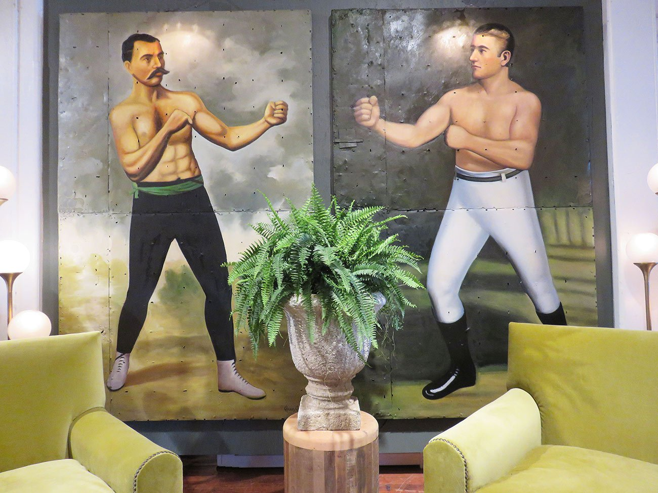 vintage boxers wall art