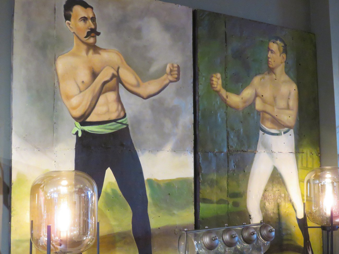 vintage boxer wall paintings