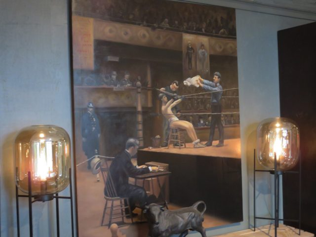 Vintage Boxer Wall Painting