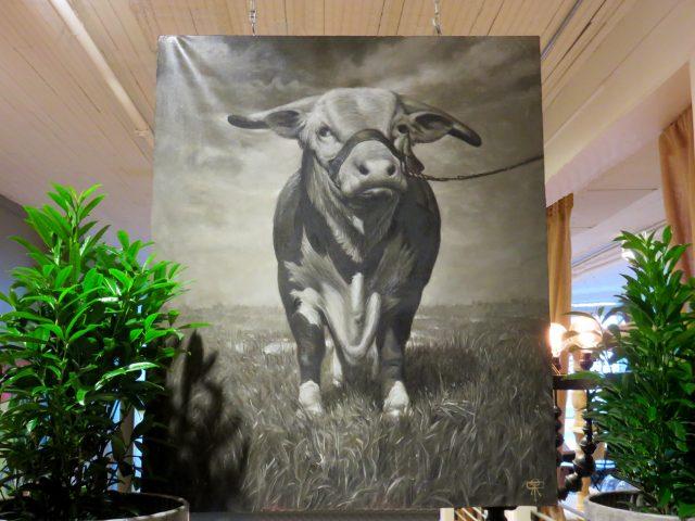 Bull Market Oil Painting