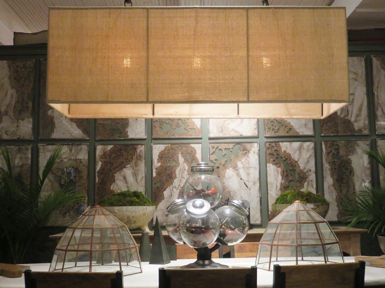large natural burlap chandelier