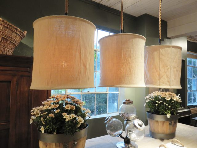 Natural White Canvas Chandeliers
