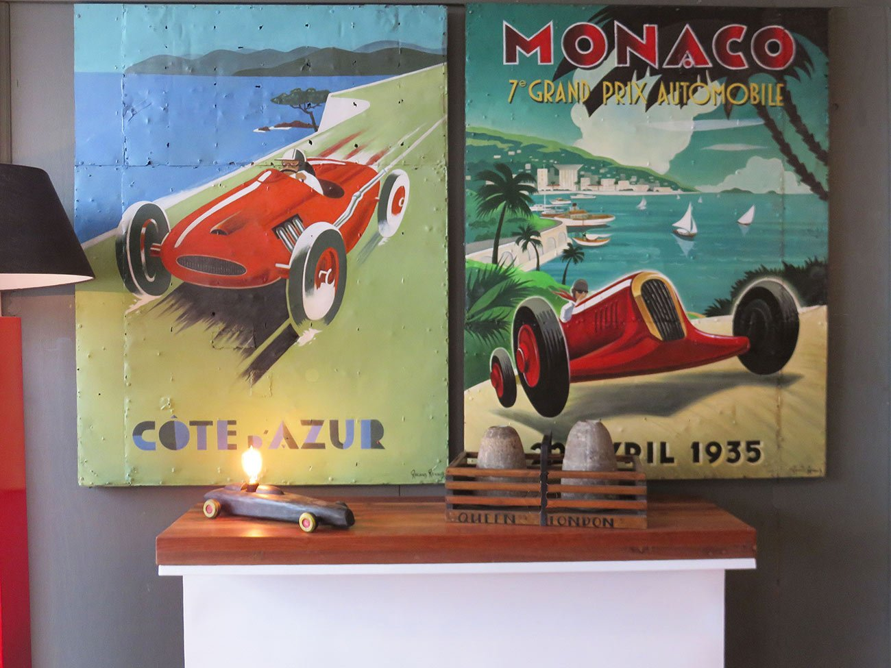 vintage French race paintings