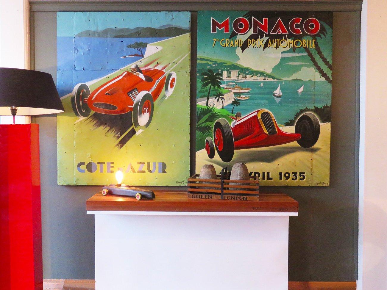 Monaco Grand Prix vintage posters