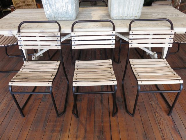 Vintage Wood Slat Chairs
