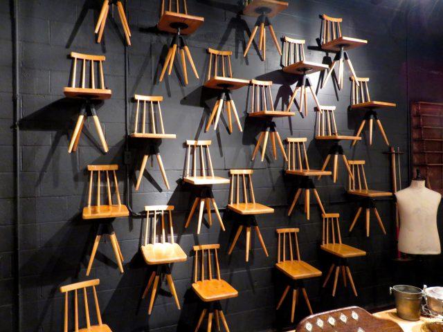 Vintage Wood School Chairs