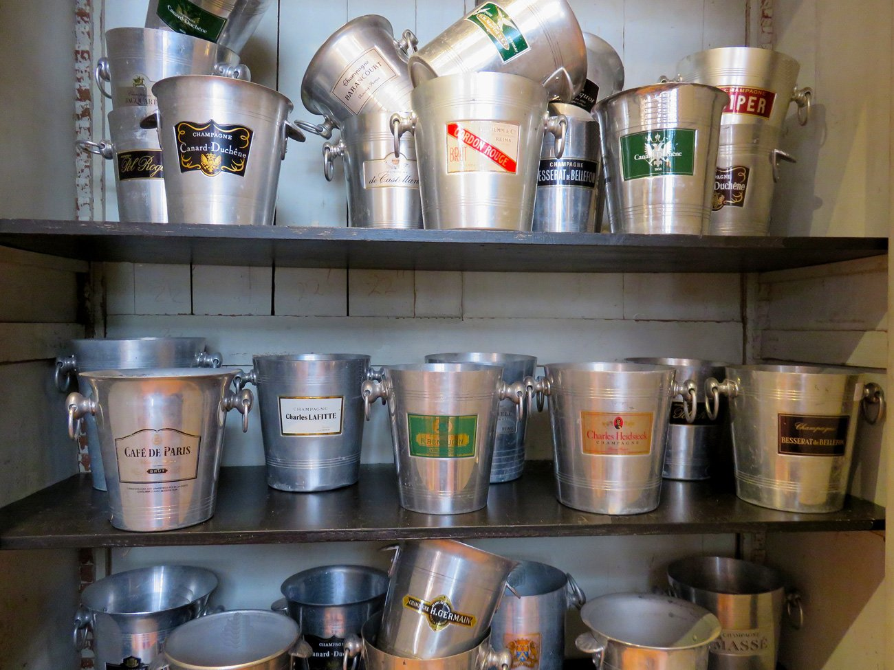 vintage champagne buckets