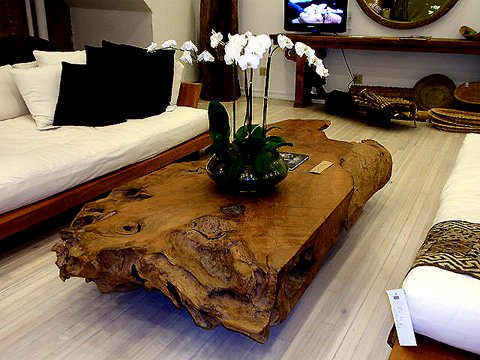 industrial salvaged wood coffee table - hudson goods blog