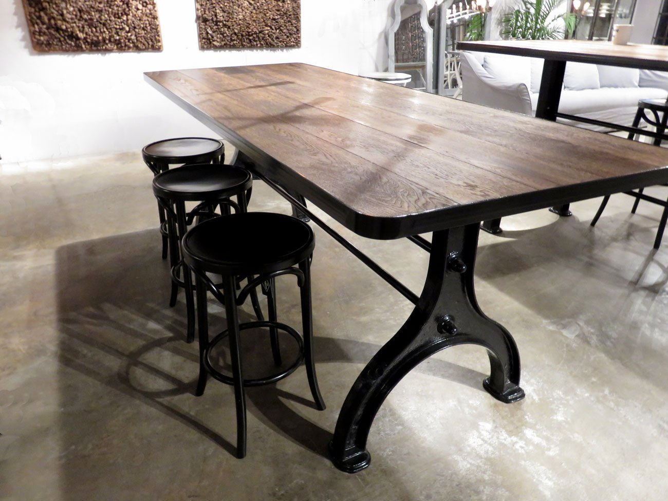 Industrial Iron Base Dining Table : counter 1 from www.hudsongoodsblog.com size 1300 x 975 jpeg 203kB