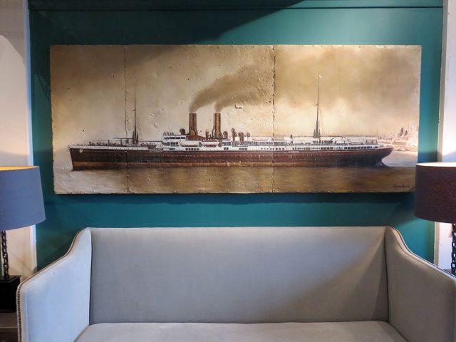 Ocean Liner Wall Painting