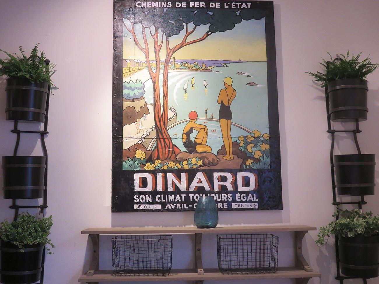 Dinard summer wall painting