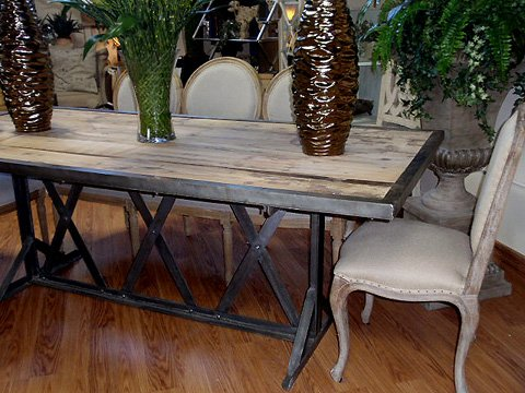 Vintage Industrial Wood and Metal Dining Table Hudson Goods Blog