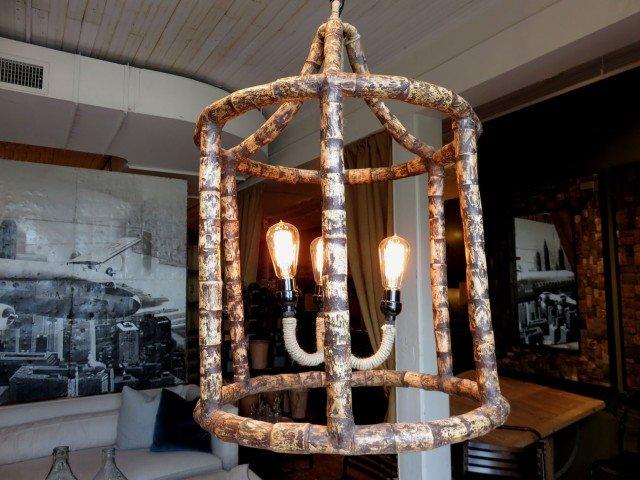 Driftwood Lantern Chandelier