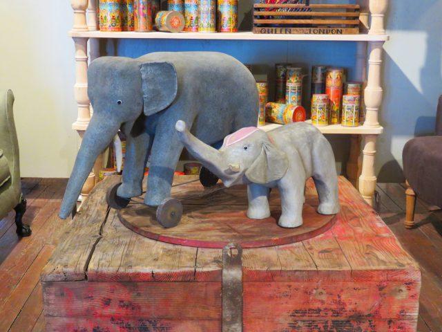 Large Vintage Toy Elephants