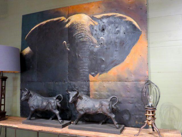 Large Elephant Oil Painting