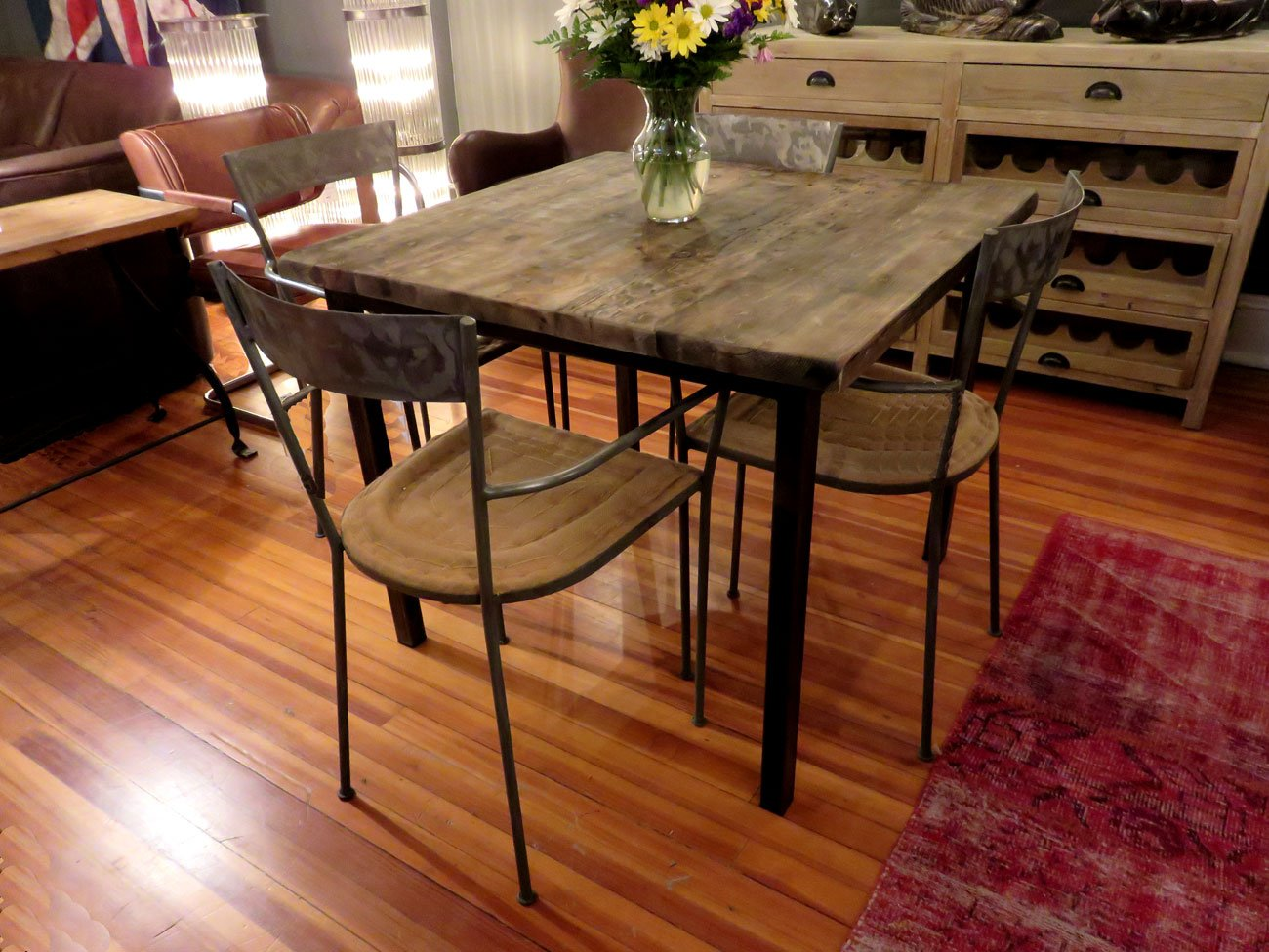 Square Reclaimed Wood Dining Table Hudson Goods Blog