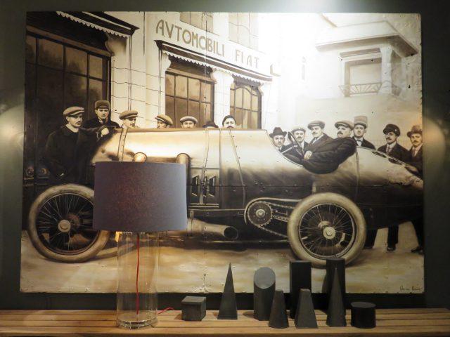 Vintage Italian Car Painting