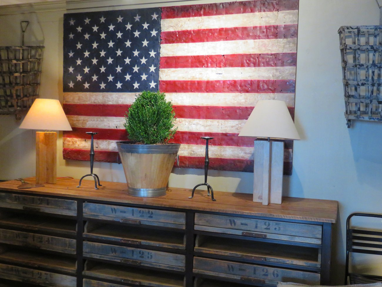 american flag wall painting