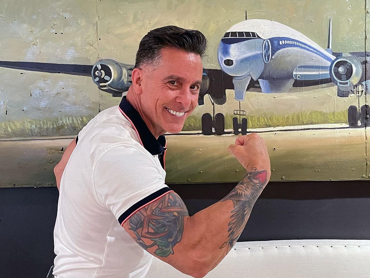 vintage jet wall painting