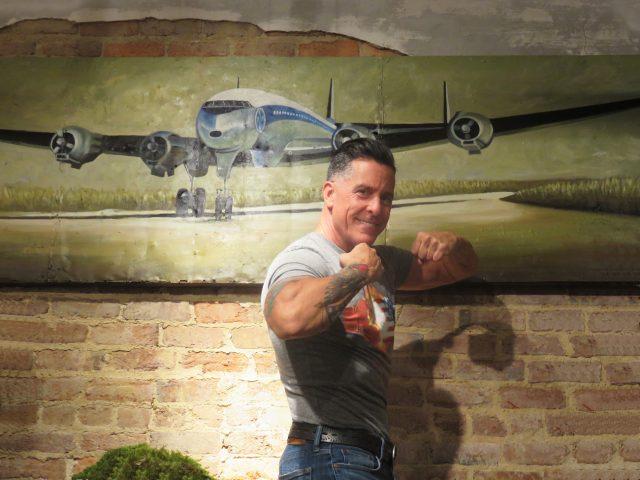 Vintage Plane Wall Painting