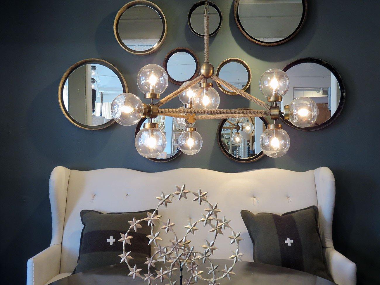 modern glass globe chandelier