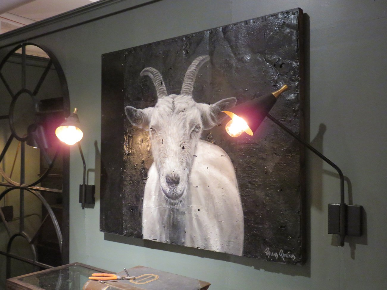 billy goat wall art
