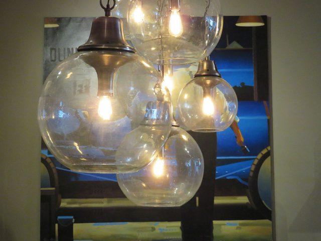 Large Glass Sphere Pendants