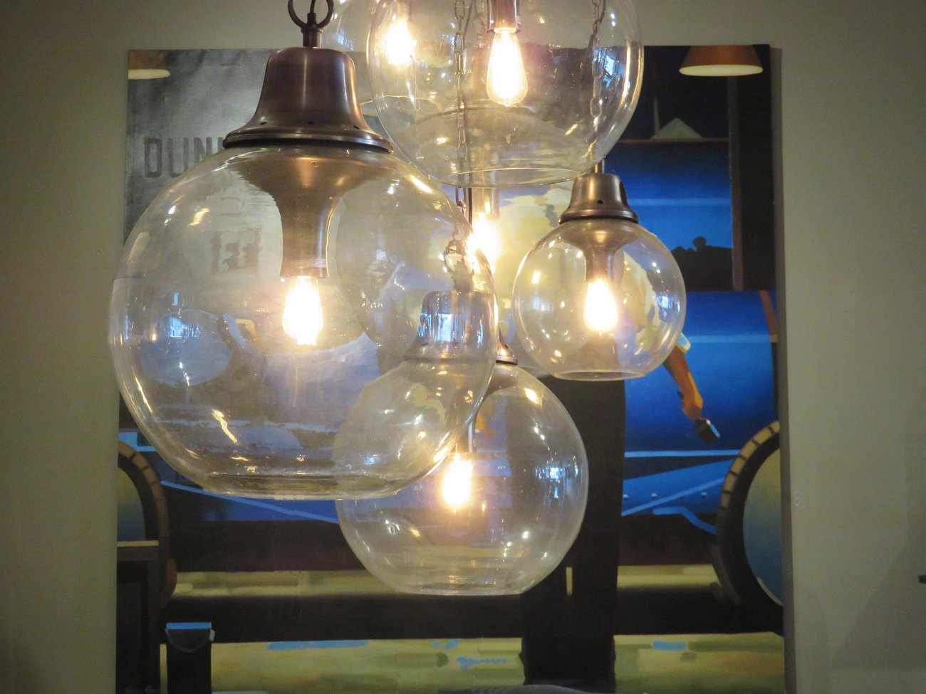 round glass pendant lights