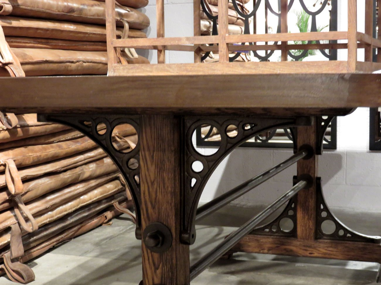 stickley oak dining table