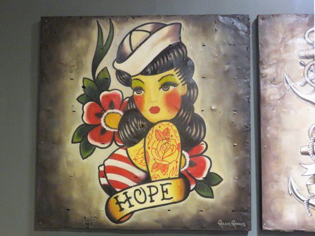 Traditional Hope Tattoo Art